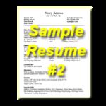 Sample Resume #2 Thumbnail