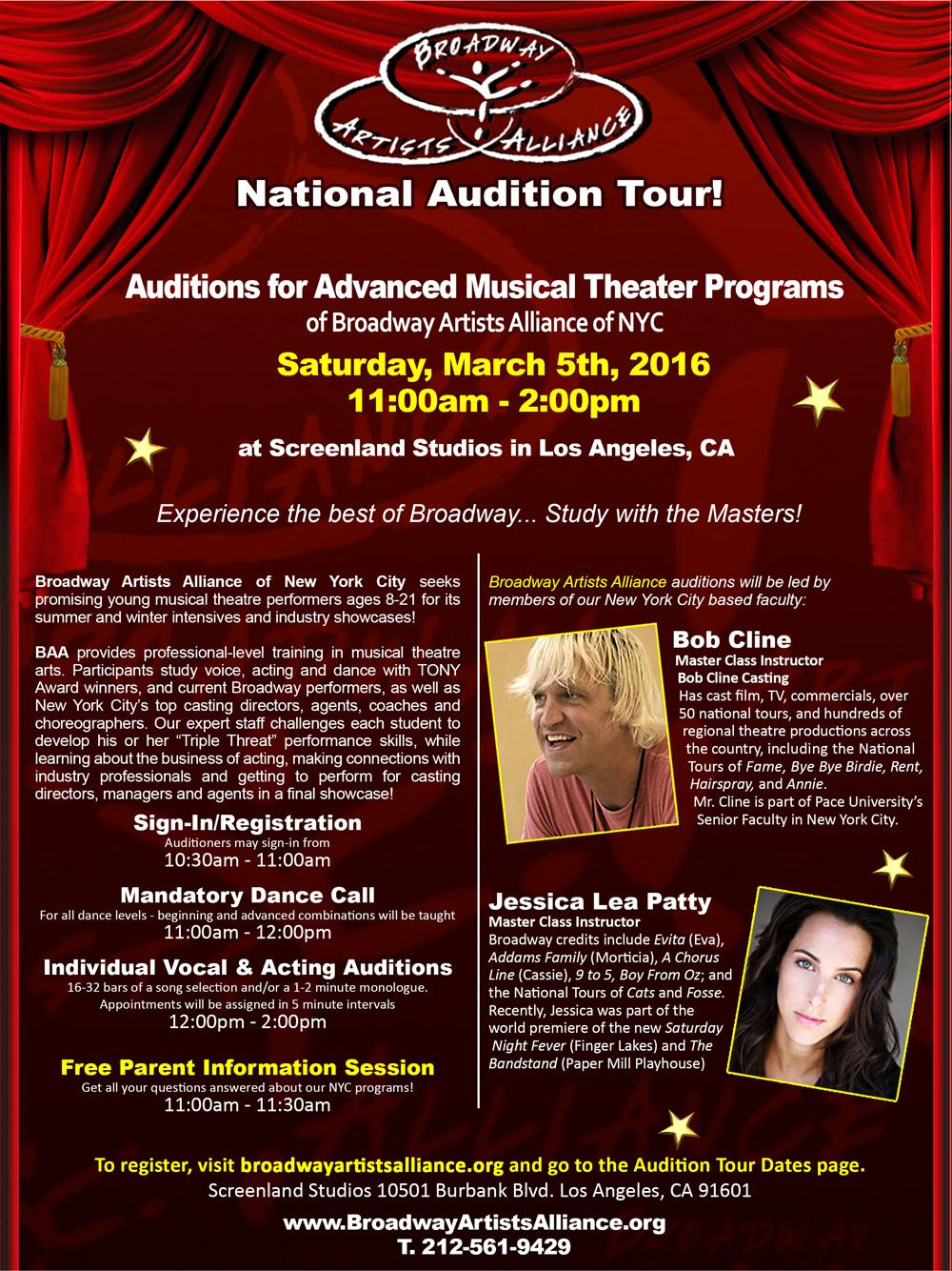 BAAaudition-Los-Angeles | Broadway Artists Alliance